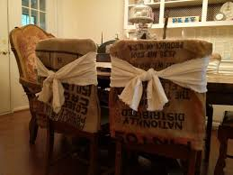 Innovative Dining Room Chair Cover From Used Bags