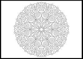 Free Symmetric Mandala Coloring Page III