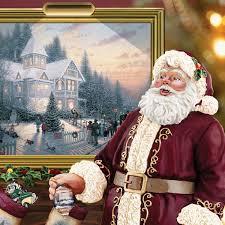 Thomas Kinkade Christmas Tree Wonderland Express by Amazon Com Thomas Kinkade Illuminated Santa Claus Tabletop