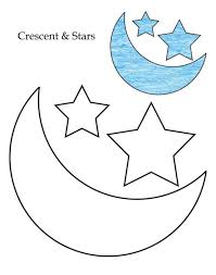 Coloring Pages Made Of Shapes Sheets For 3d Level Crescent Stars Page Geometric Online