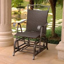 Valencia Resin Wicker/Steel Single Glider Chocolate By International Caravan Resin Wicker Porch Rockers Easy Care Rocker Charleston Rocking Chair Camel Back Chairs Set Of Two White Summer Outdoor Belwood With Floral Cushions 3pc Cushion And End Table Faux Book Pocket Coral Coast With Khaki The Portside Plantation All Weather Tortuga