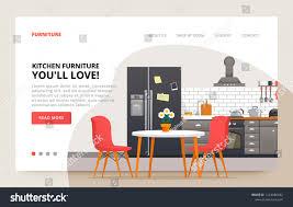 100 Home Interior Website Dinner Room Design Furniture Site Stock Vector Royalty
