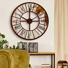 wanduhr vintage uhr mit uhrwerk wohnzimmer 70 cm deko