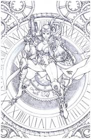Clock Tower Girl By Pantdeviantart On DeviantArt Coloring SheetsAdult