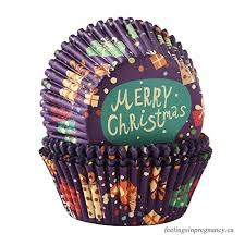 Transfertex 100pcs Christmas Baking Cups Standard Cupcake Muffin Liners Premium Disposable For Special Holiday Merry