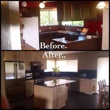 Image Of Oak Kitchen Remodel Before And After