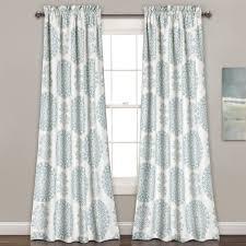 Lush Decor Window Curtains by Evelyn Medallion Room Darkening Window Curtain Pair