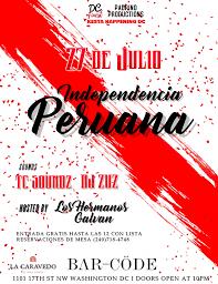 100 Barcode Washington Dc INDEPENDENCIA PERUANA DC 27 JUL 2018