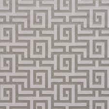 silver grey shiny geometric luxurious faux silk upholstery fabric