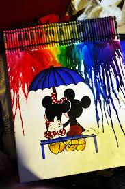 Mickey And Minnie By Brandynoelle On DeviantART Diy CraftsWe Heart It Canvas PaintingsCanvas ArtCrayon