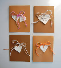 Rustic DIY Thank You Cards