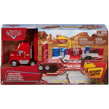 Disney/Pixar Cars Mack Truck Playset - Walmart.com Jual Mainan Mobil Rc Mack Truck Cars Besar Diskon Di Lapak Disney Carbon Racers Launcher Lightning Mcqueen And Transporter Playset Original Pixar Cars2 Toys Turbo Toy Video Review Heavy Cstruction Videos Mattel Dkv55 Protagonists Deluxe Amazoncouk Red Tayo Amazoncom Disneypixar Hauler Carrying Case 15 Charactertheme Toyworld Story Set Radiator Springs Pictures
