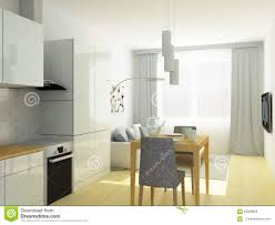 100 Small Flat Design Studio Room Kitchen And Sitting Room In Light Gray