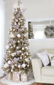 Dunhill Christmas Trees by White And Champagne Colored Ornaments For Christmas Tree