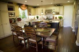 In A Wide Traditionally Styled Kitchen Theres Plenty Of Floor Space For The Large