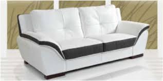 canapé 2 places en cuir canape 2 places cuir blanc et noir sofamobili