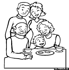 Free Boxing Day Coloring Pages Color In This Picture Of A Family Gathering And Others With Our Library Online Save Them Send