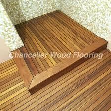 Teak Shower Floor Mat