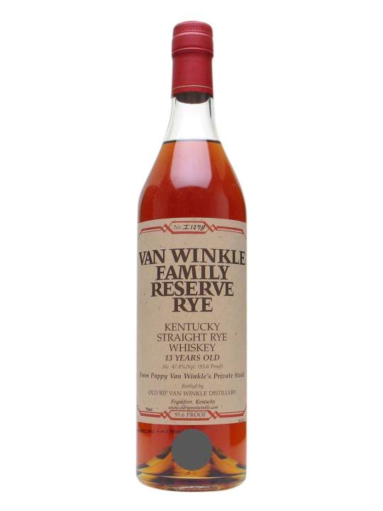 Van Wrinkle Family Reserve Rye Kentucky Straight Rye Whiskey