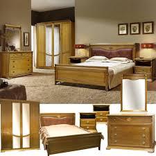 schlafzimmer komplett set leonie schlafzimmermöbel im französischen landhausstil massivholz honigeiche