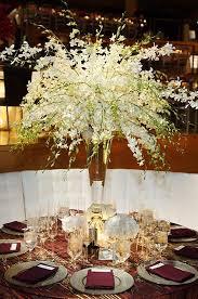 White Dendrobium Centerpiece