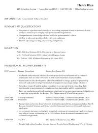 Government Job Resume Examples Samples Go