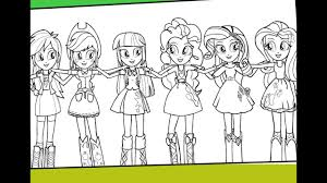My Little Pony Equestria Girls Coloring For Kids MLP Pages