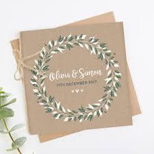 Botanical Kraft Folded Square Wedding Invite