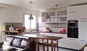 amenagement salon cuisine beautiful amenagement cuisine ouverte sur salon 14 verriere