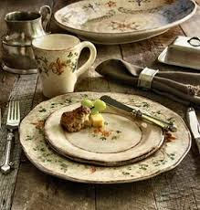 Setting A Rustic Country Table With Italian Dinnerware