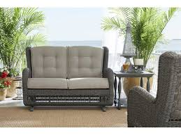 Paula Deen Furniture Sofa by Paula Deen Outdoor Dogwood Wicker Loveseat Glider 17003889