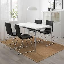 torsby volfgang tisch und 4 stühle hochglanz weiß bomstad schwarz