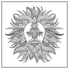 Imposing Lion Coloring Page In Exquisite Line Vector