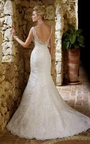 lace back mermaid wedding dress naf dresses