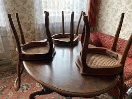esszimmer 3 stühle wiener geflecht ovaler tisch