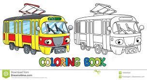 Coloriage De Tram Livre Coloriage Pour Les Enfants Rue Voiture