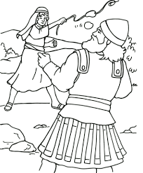 Click To See Printable Version Of David And Goliath Coloring Page