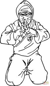 Ninja Coloring Pages Shinobi Page Free Printable Draw