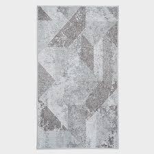 vintage teppich geometrisch braun 250 x 350 cm