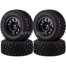 100 Truck Rims 4x4 Details About 4pcs FrontRear Wheel Rim Tire For 110th Traxxas Short Course Slash