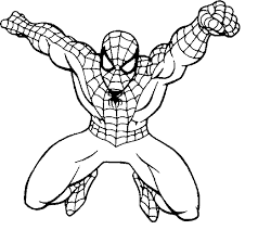 Pin Spiderman Clipart Easy Coloring 1