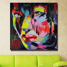 großhandel wohnzimmer wandbilder abstrakte frauen gesicht ölgemälde handgemalte malerei auf leinwand wanddekor kein gestaltet
