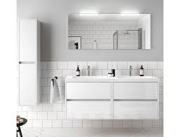 badezimmer badmöbel 140 cm aus glänzendes weiß holz mit mineralguss waschtisch zubehör standard abmessungen 140 cm