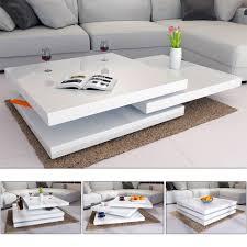casaria couchtisch new york 1 st wohnzimmertisch modern hochglanz 360 drehbare tischplatten individuell anpassbar hohe tragkraft