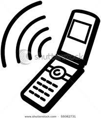 Flip Phone Clipart Black And White ClipartXtras