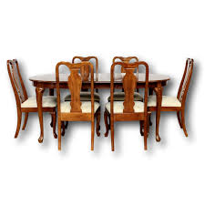 Universal Dining Table W/6 Chairs   Upscale Consignment Kitchen Ding Room Fniture Scdinavian Designs Cape Cod Lawrence Dark Cherry Extension Table W6 Tom Seely Solid W 6 Chairs Sets And Chair Dock86 Universal Upscale Consignment 26 Big Small With Bench Seating 2019 Gently Used Ethan Allen Up To 50 Off At Chairish East West Nido6bchw Pc Ding Room Set Bkitchen Tables 4 Plus Bench In Black Cherryfinishblack And Cm88 Roccommunity Steve Silver Tournament Arm Casters Set Of 2 Oval American Drew Cherry 7 Pieces Used Leaf Finish Glass Top Modern Woptional Items