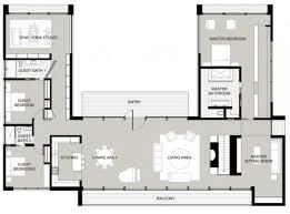 plan de maison contemporaine en u np18 jornalagora