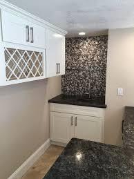 san francisco quartz shower walls home bar transitional with black