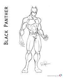Marvel Movie Black Panther Coloring Page Maggotninja Superhero Pages