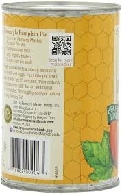 Libbys Pumpkin Pie Mix Muffin Recipe by Amazon Com Farmer U0027s Market Foods Organic Canned Pumpkin Pie Mix